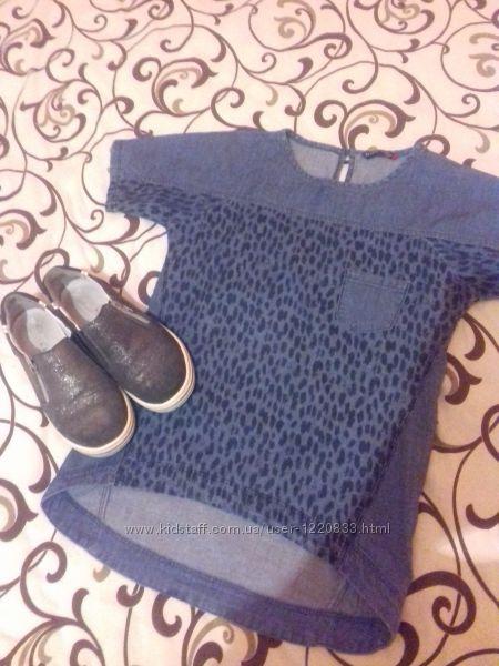 Фірмова джинсова футболка-туніка
