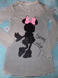 Мрдне платтячко  туніка з модним принтом Міккі