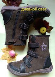 Ботинки полусапоги Ciao gore-tex тёплые демисезонные Италия коричневые