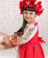 Вишиванка Принцеса-07 . Дитяче плаття з рукавом 34р.  dfdf6544541ea