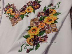Вышиванка. Заготовка блузы 68 в комплекте с бисером