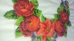 Вышиванка. Заготовка платья Розы с лилией