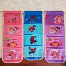Новый органайзер-кармашки на стенку шкафчика в детский сад, оптовые цены