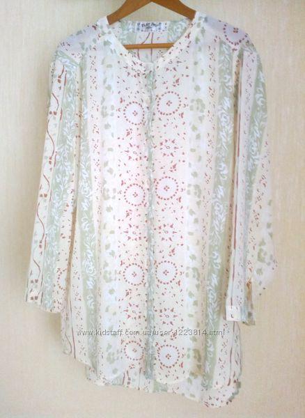 Part two. Длинная из шифона блуза-рубашка, р. 50-52