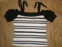 Fast Блуза-футболка с вырезом-лодочкой и завязками на плечах, р. 44-46