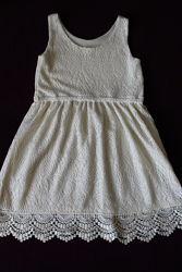 Платье сарафан кружевное от h&m р. 122-128