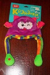 Шапка-игрушка Крейзики котик  с двигающимися лапками