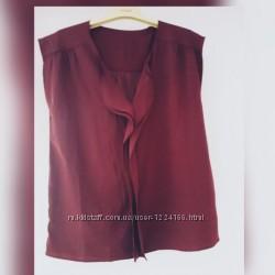 Літня блузка темнофіолетового кольору . Розмір M- L.
