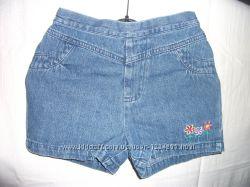 Шорты джинсовые для девочки, на 3-5 лет.
