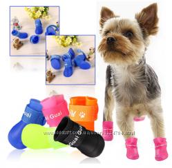 Резиновые сапожки для собак