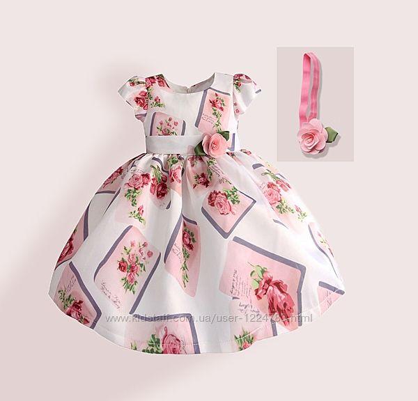Zoe Flower Платье для девочки Нежная роза