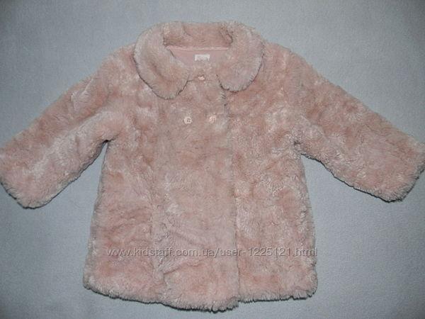 Пальто меховое ф. Monsoon на возраст 2-3 года
