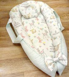Кокон гнёздышко для новорожденного девочке мальчику