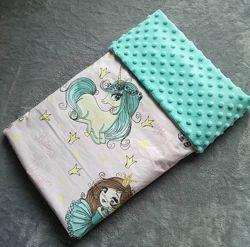 Плед одеяло конверт на выписку для новорожденного девочке