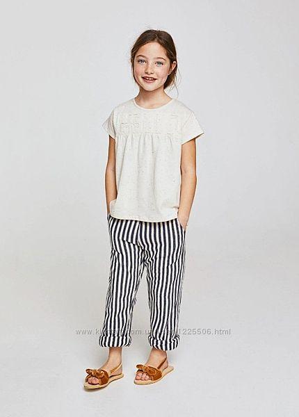 Стильная футболка от Mango девочке 7-8 лет, новая с биркой