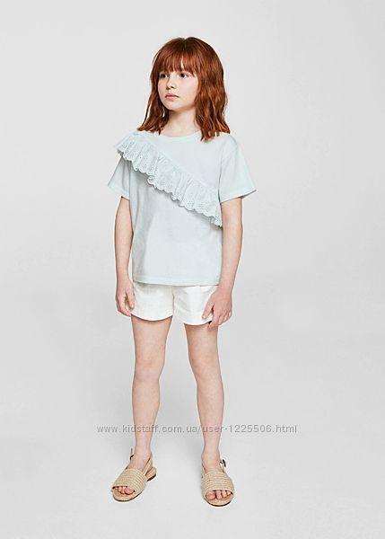 Стильная футболка от Mango девочке 4-5,  лет новая