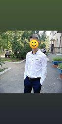 Белая рубашка мальчику 12-14 лет, в отличном состоянии