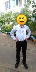 Белая рубашка мальчику 10-12лет, в идиале