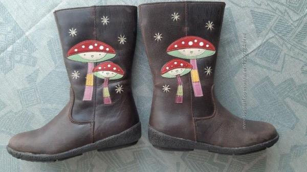 Сапоги сапожки размер 27 - 28, стелька 17,8 кожаные чоботи чобiтки шкiрянi