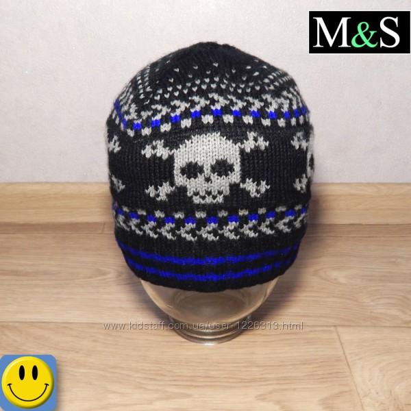 Шапка на осень M&S 5 - 8 лет.  скелет, череп