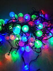 Гирлянда 40LED шарик светодиодная  разноцветная RGB 6 метров