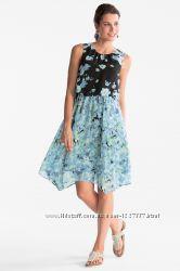 шикарное воздушное платье C&A с цветочным принтом