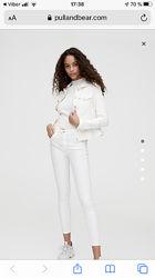 белые брюки штаны скинни 36 xs стрейч стрейчевые черные 38