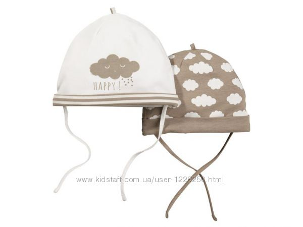 Нежный комплект шапочек на малыша Lupilu Германия