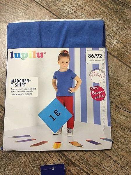 Хлопковая летняя футболка на девочку Lupilu Германия