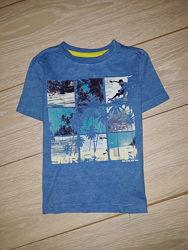Яркая футболка f&f на 2-3 года