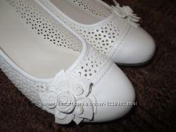 Туфли молочного цвета 25 см