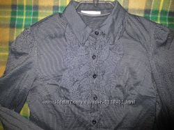Блузка рубашка с длин. рукавом М