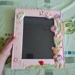 Детская рамка для фото прямоугольная