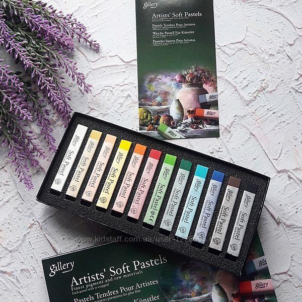 Пастель сухая Mungyo  Artist&acutes Soft Pastels  12 цветов, мягкая