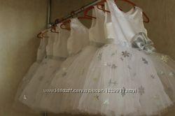 Платье нарядные снежинки 74-152