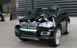 Детский электромобиль BMW JJ 258 лак, кож. сидение