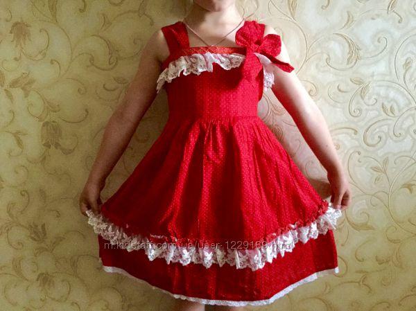 Качественное платье в горох  Хлопок