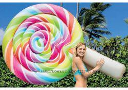 Яркий надувной матрас от INTEX в виде конфеты на палочке, 58753