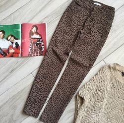 Леопардовые брюки джинсы peacocks