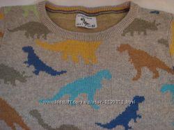 Яркий свитер Next с динозаврами, р. 2-3года, р. 98