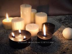 Light&shadow. Шикарные чёрные и белые свечи ручной работы.
