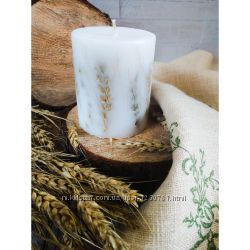 Стильные ароматные свечи с колосками  Матiнка Земля