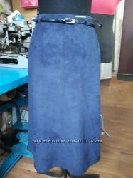 Красивая юбка тканевой замш Marks&Spencer, размер 8