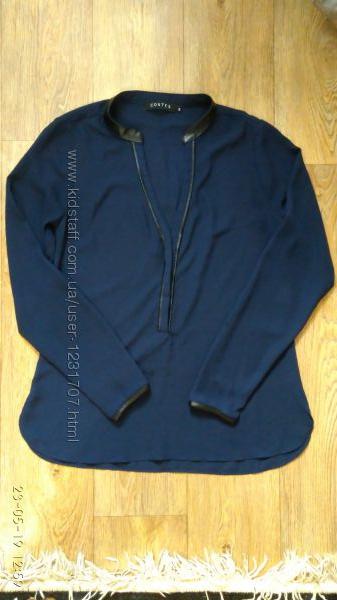 Кофта, блуза темно-синяя легкая