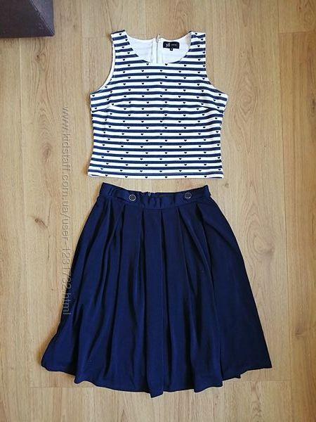 Reserved комплект, юбка и майка, топ, размер s, 36