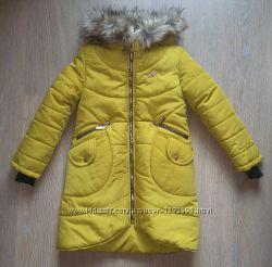 Зимнее пальто на девочек 128-158 разные модели