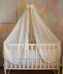Постельный комплект набор для детской кроватки ТМ Ведмедик