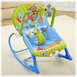 Детское кресло-качели Fishe-Price с музыкой и вибрацией