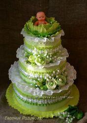 торт с памперсов распашонок подарок новорожденному