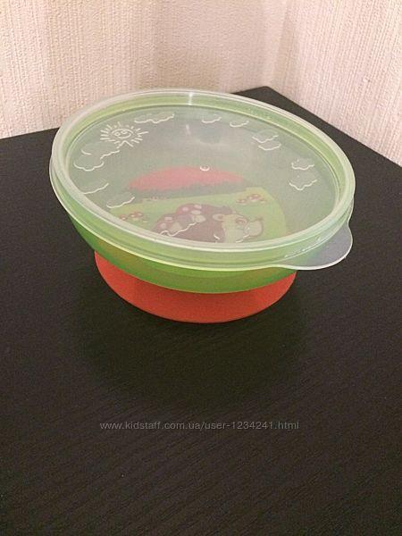 Тарелочка с крышкой на присоске Canpol babies